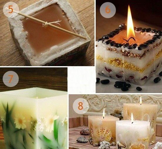 Идей свечей своими руками