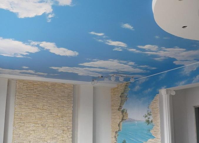 Потолок изо ткани своими руками