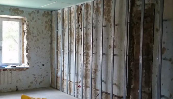 Стены изо гипсокартона своими руками