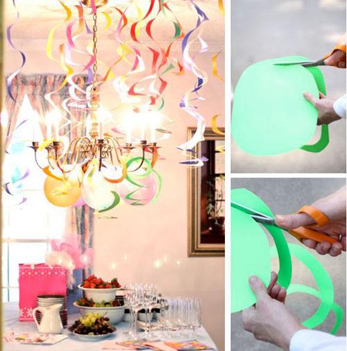 Украшение комнаты для праздника своими руками