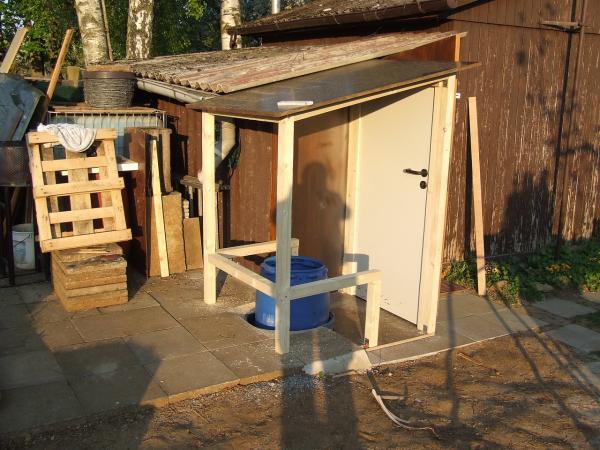Каркасный туалет для дачи