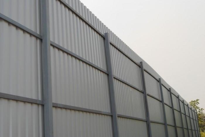 Забор из профлиста. Технология установки