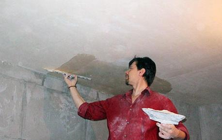 Как выровнять потолок