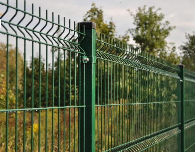 Забор из  сетки Гиттер своими руками