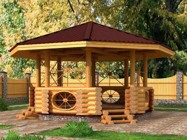 Беседки из дерева — декорирование деревянной решеткой
