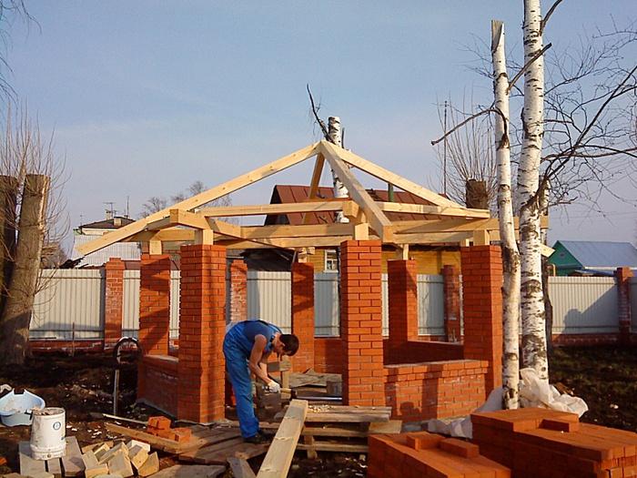 Виды беседок из кирпича: строительство своими руками