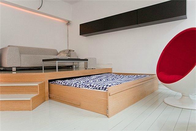 Дизайн двуспальных кроватей: фото