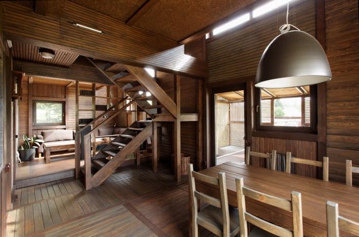 Дизайн дачного дома внутри, снаружи
