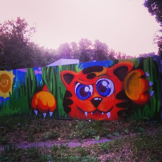 Рисунки на заборе своими руками